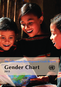 The Millennium Development Goals Report: Gender Chart 2012