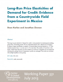 Long-Run Price Elasticities of Demand for Credit: Evidence from a Countrywide Field Experiment in Mexico