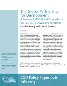 The Global Partnership for Development