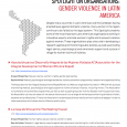 Spotlight on organisations: gender violence in Latin America