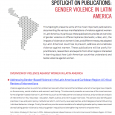 Spotlight on Publications: Gender Violence in Latin America